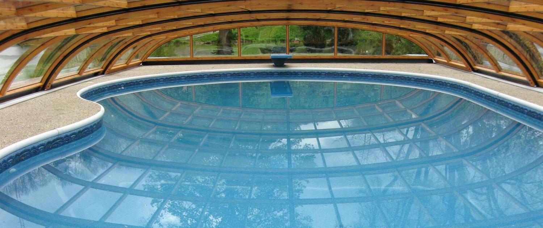 atypické zastřešení bazénu